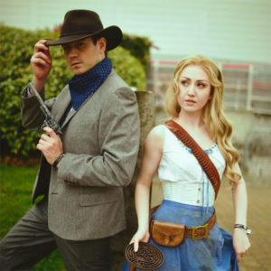 Dolores & Teddy from West World, a creative couples Halloween costume idea