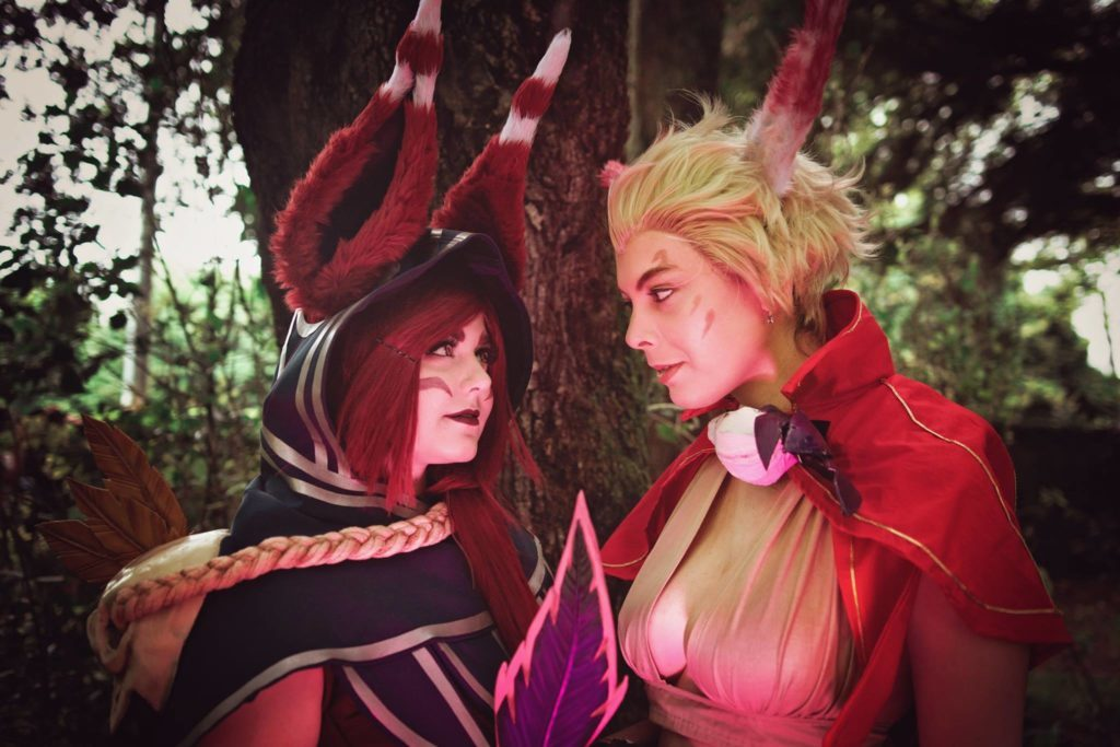 Xayah & Rakan from League of Legends, couples Halloween costume idea