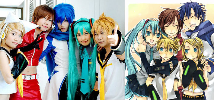 Japanese cosplay comparison