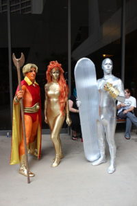 Use a zentai suit for an easy cosplay like Silver Surfer